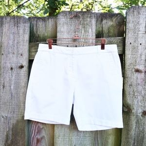 Talbots The Weekend Shorts White Chino Beach